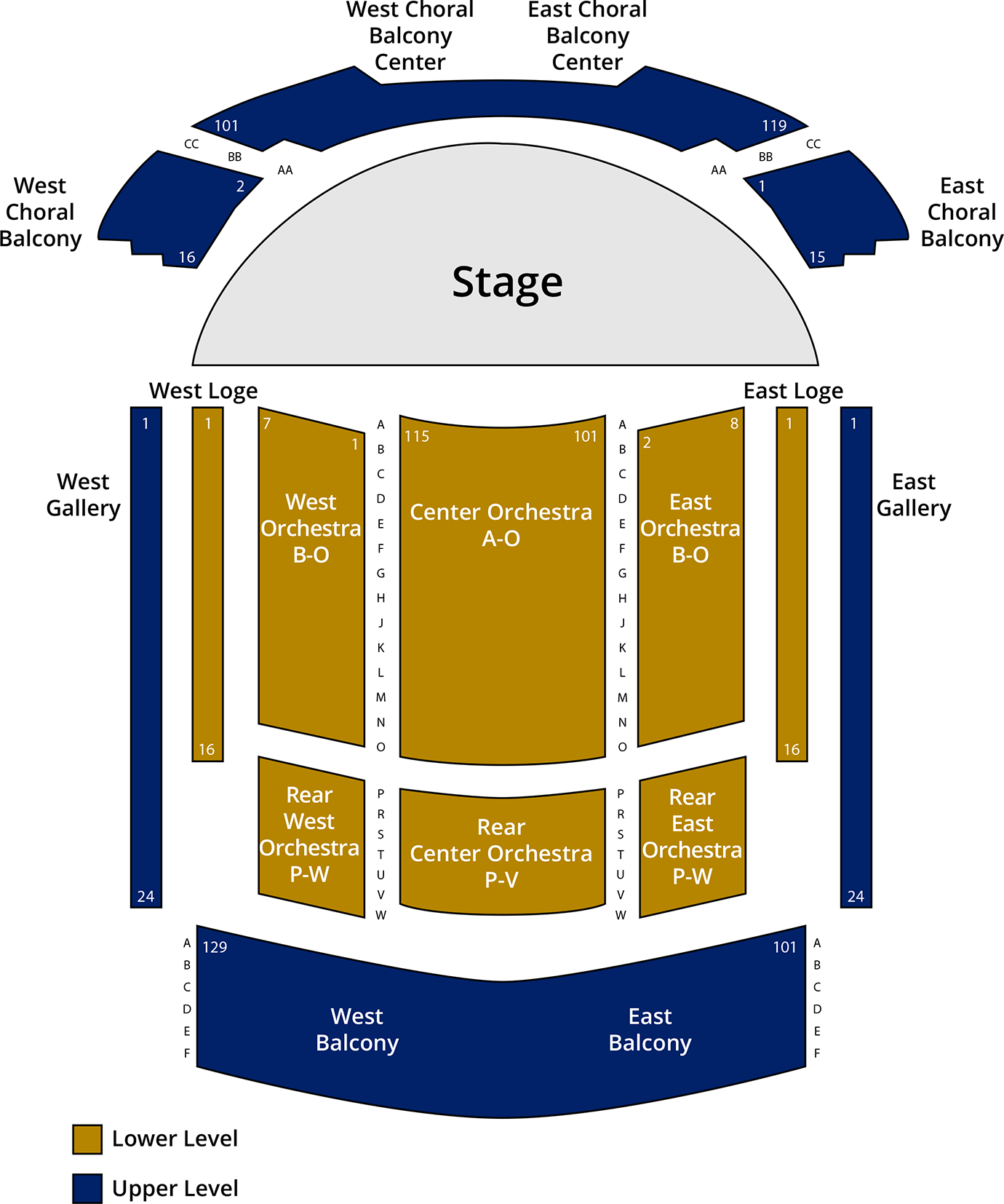 Emerson Concert Hall seating chart