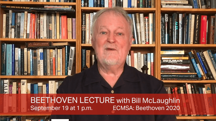 Bill McGlaughlin gives a pre-concert lecture for September 19